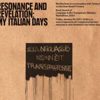 ARTIST TALK | Resonance and Revelation: My Italian Days | Mel Bochner in conversation with Tenley Bick | Magazzino Da Casa