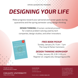 Workshop: Designing Your Life: Apply Design Thinking to Your Ideal Life and Career