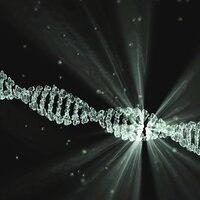 Mysterious spark in a DNA strand