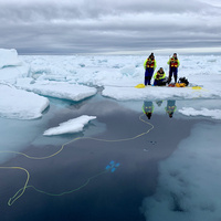 students in arctic with ROV