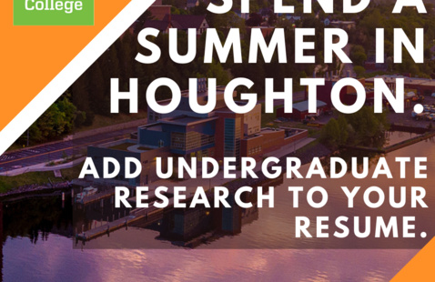 Spend a summer in Houghton. Add undergraduate research to your resume.