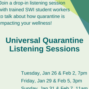 Quarantine Listening Session