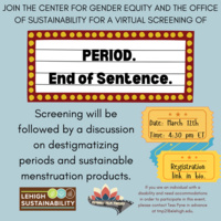 """Virtual Screening """"Period. End of Sentence.""""    Center for Gender Equity"""