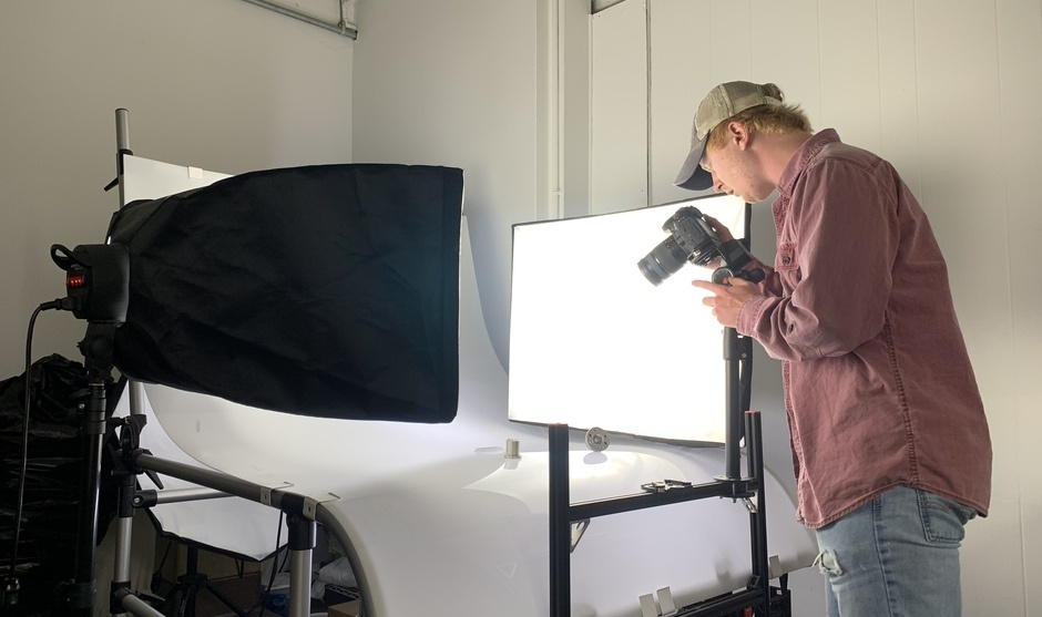 student photography set up