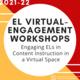 Summer EL Virtual-Engagement Workshop #2: PreK-12th