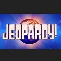the word 'Jeopardy!' superimposed over an earth image