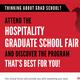 University of Houston's Hospitality Graduate School Fair