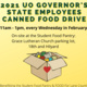 2021 UO Governor's State Employees Canned Food Drive