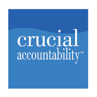 crucial accountability in white on blue background
