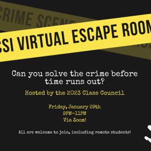 Crime Scene Investigation (CSI) Virtual Escape Room