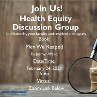 Health Equity Discussion Group: Men We Reaped by Jesmyn Ward