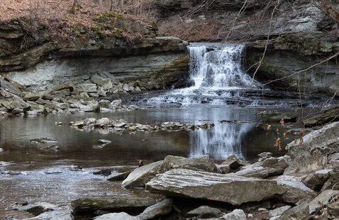 McCormick's Creek Falls in Winter