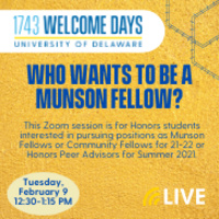 Who Wants to be a Munson Fellow?