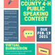 Fayette County 4-H Public Speaking Contest