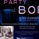 "Dark blue graphic with picture of film director Michael Rice. Text reads ""ParTy boi: Black diamonds in ice castles. Virtual Screening and Q&A with film Director, Michael Rice. Wednesday March 3rd at 7pm.  Login Details on Involved@TU. parTy boi is an award winning documentary that journeys into the world of crystal meth addiction within black and brown LGBTQ+ communities."""