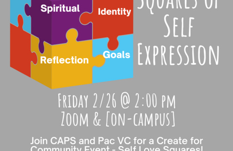 Create for Community: Squares of Self Expression (with CAPS)