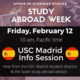 USC Madrid Info Session - part of Study Abroad Week