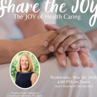 "Share the JOY: ""The JOY of Health Caring"""