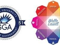 SGA and Well at Lasell Logos