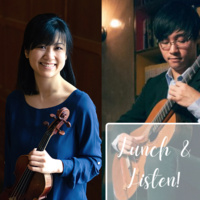 photos of violinist Letitia Jap and guitarist Kenneth Kam