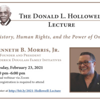 """The 2021 Donald L. Hollowell Lecture """"History, Human Rights, and the Power of One"""""""