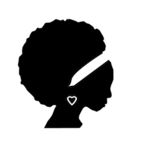 silhouette of woman with afro