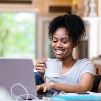 Potential Student attending information session online
