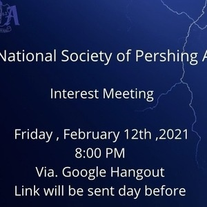 National Society of Pershing Angels Inc. Interest Meeting