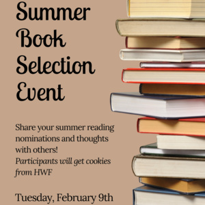 Brown Commons Summer Book Selection Event