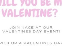 Will you be my Valentine? Join NACE at our Valentine's Day Event! Pick up a Valentine's Day card and some gummy bears for your significant other.