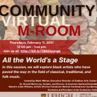 Community M-Room: All the World's a Stage | Multicultural Affairs