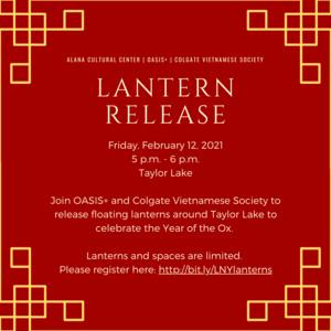 ALANA and Mosaic Present: Lantern Release