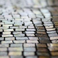 black/brown brick shapes