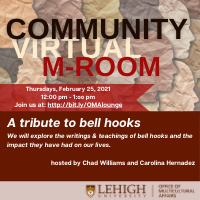 Community M-Room: A tribute to bell hooks | Multicultural Affairs