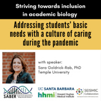 Addressing students' basic needs with a culture of caring during the pandemic