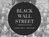 Simon Finance and Investment Club: Black Wall Street – Careers in Finance