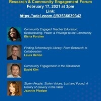 Department of English Research & Community Engagement Forum