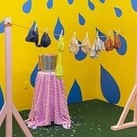 """""""Wash and Hang"""", 2020, mixed media installation"""