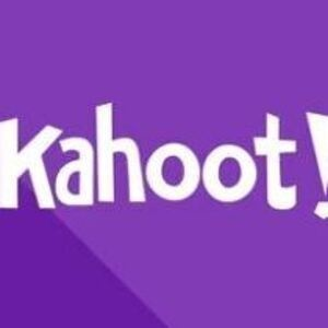 'Kahoot!' on a purple background