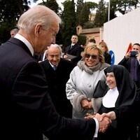 President Biden with community members