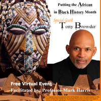 Black History Month mask and Tony Browder