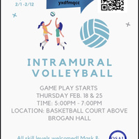 Intramural Volleyball SIgn Up 2/1-2/12