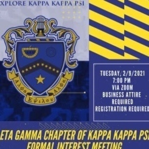 The Eta Gamma chapter of Kappa Kappa Psi Formal Interest Meeting