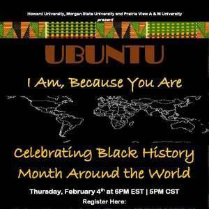 UBUNTU Part 1: Celebrating Black History Month Around the World Flyer