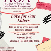 Lambda Theta Alpha Latin Sorority, Incorporated: Delta Phi Chapter Love for Our Elders Event