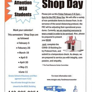 Food Resource Center: Food Distribution (SHOP DAY)