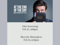 Film Screening ' At The End Of The Day'