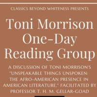 Toni Morrison One-Day Reading Group