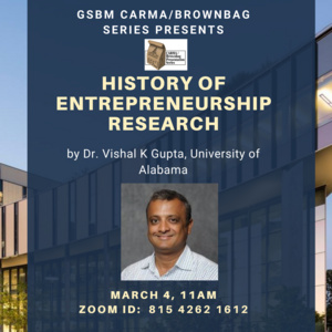 History of Entrepreneurship Research