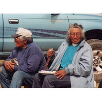 Carrie (L) & Mary Dann, circa late 1990's From the Western Shoshone Defense Project collection